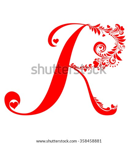 R Alphabet In Heart Stock Images, Royalty-...