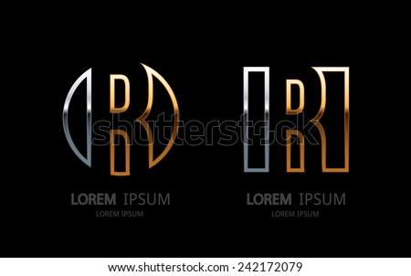 Letter R logo. Alphabet logotype vector design. - stock vector