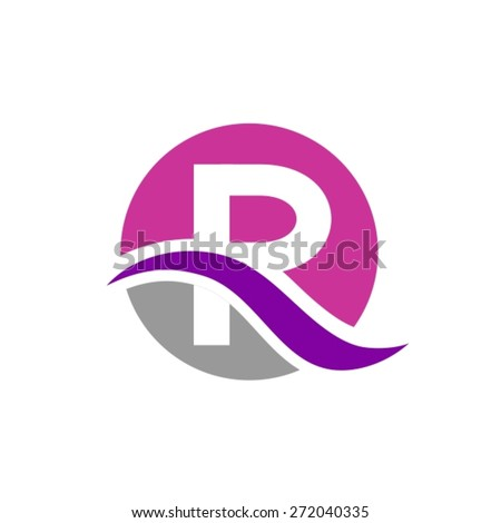 Letter R logo design - stock vector