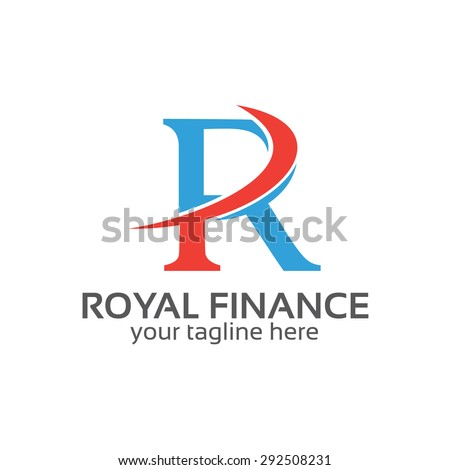 Letter R logo design vector. Letter R symbol vector in two colors . Simple modern clean letter R logo template. - stock vector