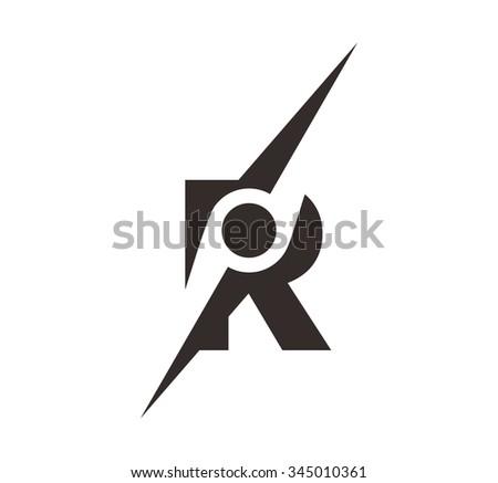 Letter R Symbol Compass Logo Vector Stock Vector 2018 345010361