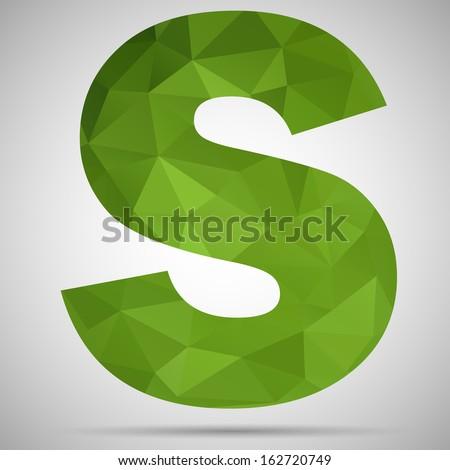 Letter S - stock vector