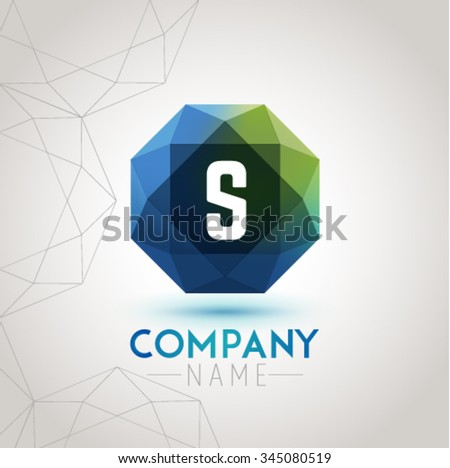 Letter S Alphabet Logo Icon Design Template Element. Vector Color Sign Easy Editable for Your Design. - stock vector