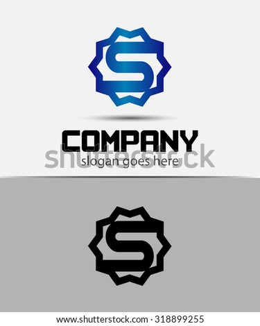 Letter s Alphabetical Logo Design Concepts  - stock vector