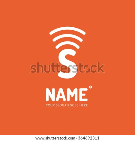 Letter S and wave, logo design vector template. Symbol concept icon. - stock vector