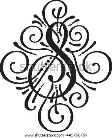 Fancy Letters Stock Royalty Free & Vectors