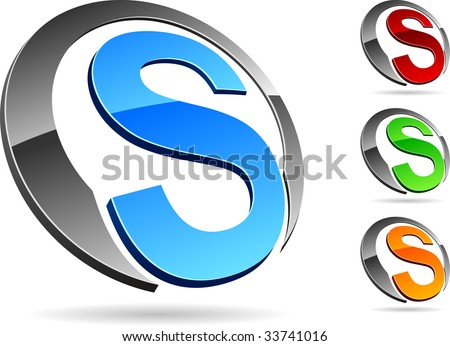 "Letter ""S"" symbol. Vector illustration. - stock vector"