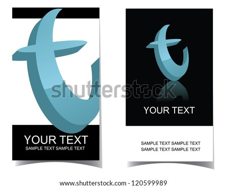 Letter T Icon Symbol Business Card Set front and back. EPS 8 vector, no open shapes or paths. - stock vector