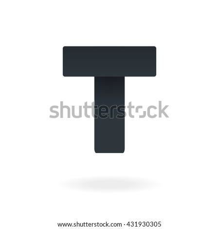 Letter T logo design template. Stylish vector icon - stock vector