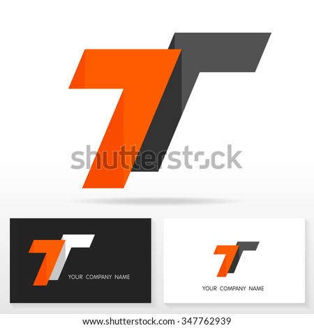 Letter T logo design - vector sign. Business card templates. - stock vector