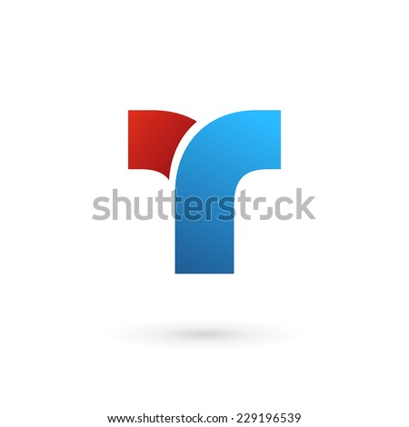 Letter T logo icon design template elements  - stock vector
