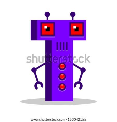 Letter T Monster, vector illustration - stock vector