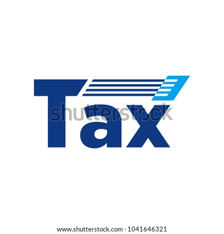 letter tax vector logo stock vector 2018 1041646321 shutterstock rh shutterstock com tax logo for free logo taxi png