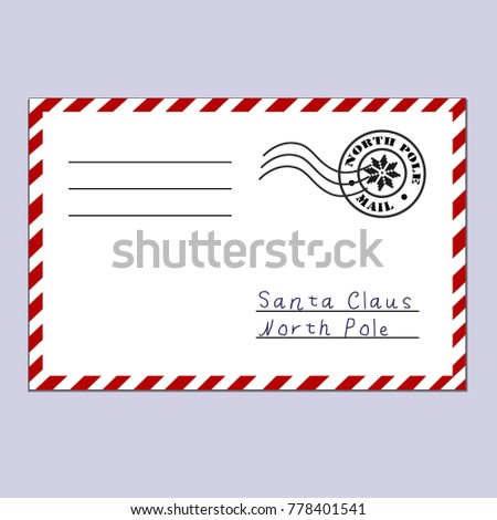 Letter santa claus letter north pole stock vector royalty free letter to santa claus a letter to the north pole postcard in the traditional spiritdancerdesigns Gallery