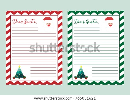 Letter santa claus vector illustration printable stock vector letter to santa claus vector illustration printable page english christmas worksheet with writing a spiritdancerdesigns Images