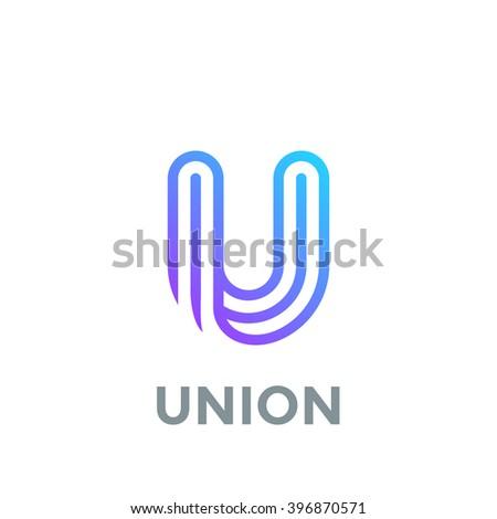 U Logo Design Stock Images, Royalty-...
