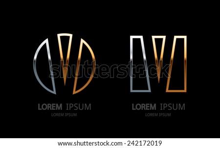 Letter V logo. Alphabet logotype vector design. - stock vector