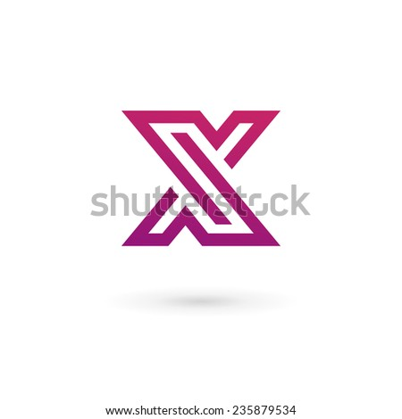 Letter X Logo Icon Design Template Stock Vector (Royalty ...