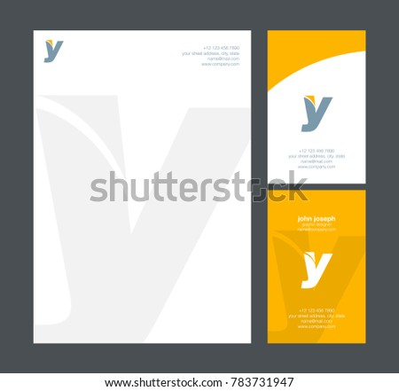 Letter y logo icon business card stock vector hd royalty free letter y logo icon with business card and letter head stationery vector template thecheapjerseys Image collections