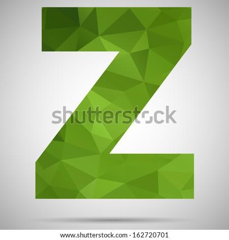 Letter Z - stock vector