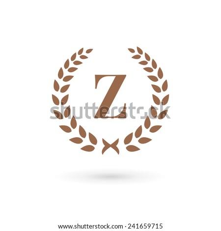 Letter Z laurel wreath logo icon design template elements  - stock vector