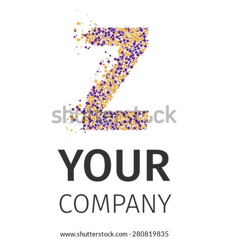 Letter Z logo. Alphabet particles logotype vector design. Excellent vector illustration, EPS 10 - stock vector
