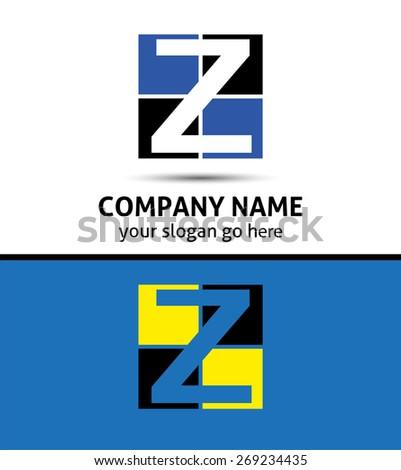 Letter Z logo symbol template elements  - stock vector