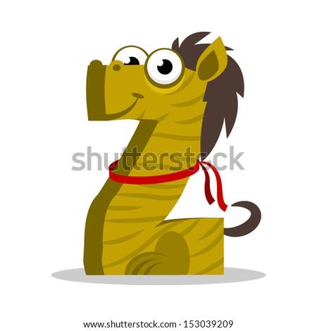 Letter Z Monster, vector illustration - stock vector