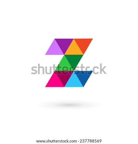 Letter Z mosaic logo icon design template elements  - stock vector