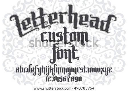 letterhead fonts handcrafted letters for the letterhead custom font on pattern stock vector 702