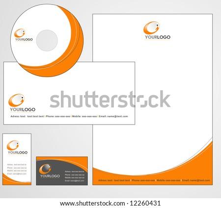 Letterhead Template design - vector - stock vector