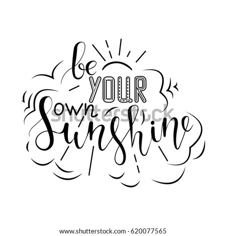 Create Your Own Sunshine Hand Drawn Stock Illustration