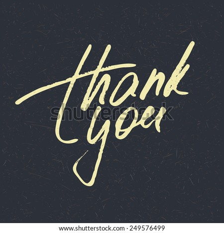 Lettering Thank you. Vector illustration - stock vector