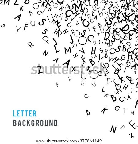 Letters abstract background composition. International Day of the Book or World Book Days. Promotion of reading, publishing and copyright. Poster or banner design. Copyright concept. Vector - stock vector
