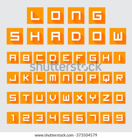 Letters and Numbers with Long Shadow
