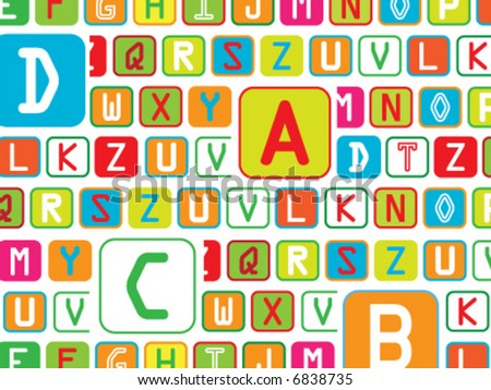 letters background - vector