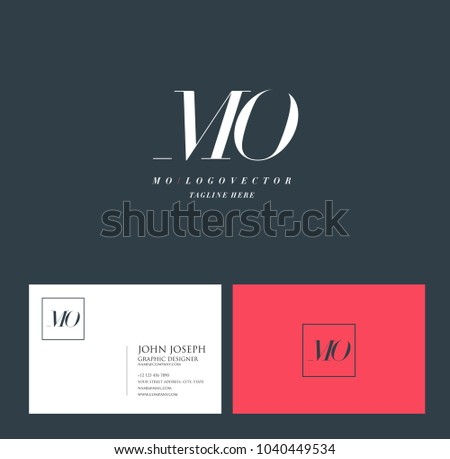Letters m o m o joint stock vector 1040449534 shutterstock letters m o m o joint logo icon with business card vector template colourmoves