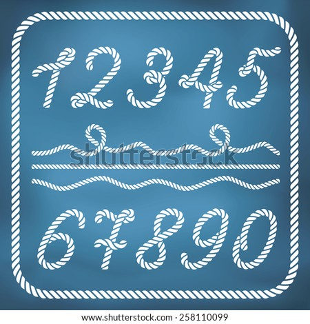 Letters made from nautical rope - stock vector