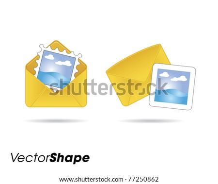 Letters web application icons vector illustration - stock vector