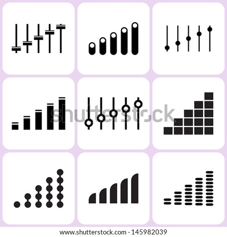 level icons set - stock vector