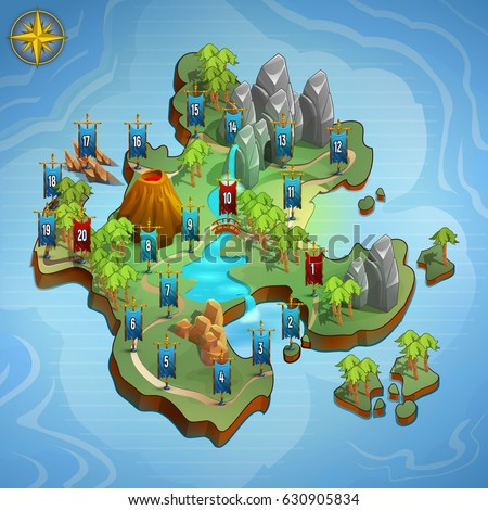 Level maps game example user interface stock vector royalty free level maps for game example user interface of game vector illustration gumiabroncs Images