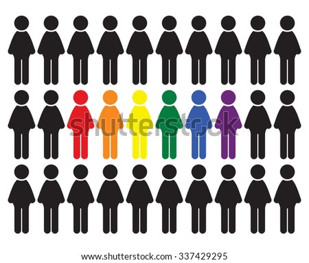 LGBT people vector icon - stock vector