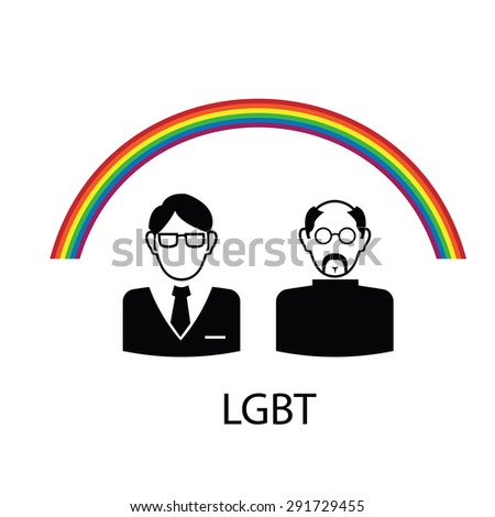 LGBT pride color poster vector - stock vector