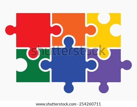 Lgbt puzzle concept - stock vector