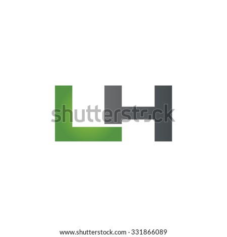 LH company linked letter logo green