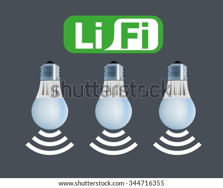 Li-Fi technology vector.