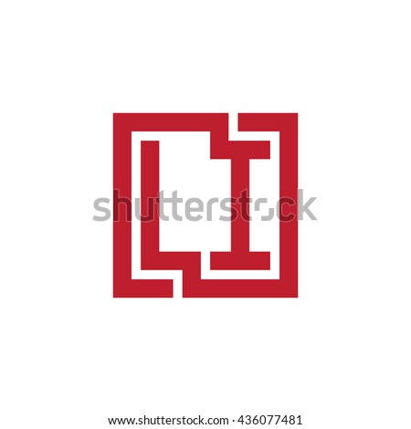 LI initial letters looping linked square logo red