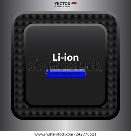 li-ion battery , vector illustration, EPS 10 - stock vector