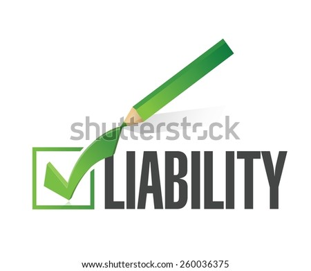 liability check dart illustration design over a white background