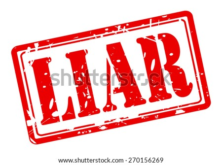 Liar red stamp text on white - stock vector